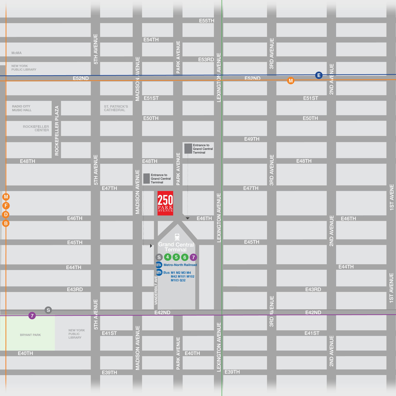 250 Park Avenue map
